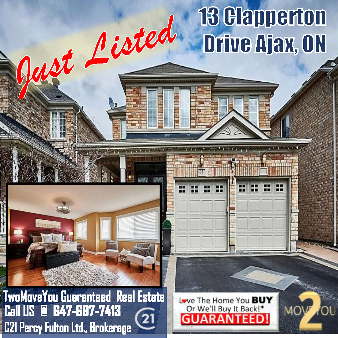 For Sale 13 Clapperton Dr Ajax, ON L1T4X9